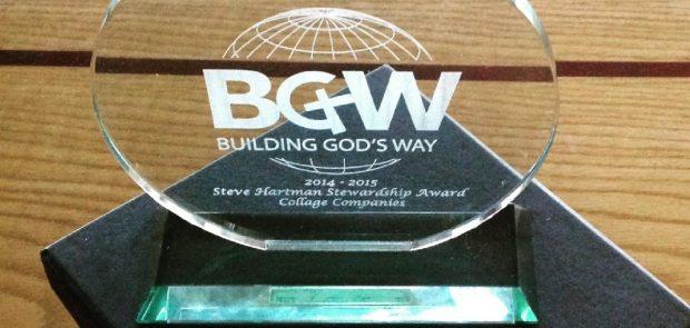 BGW Steve Hartman Stewardship Award, 2014-15, The Collage Companies
