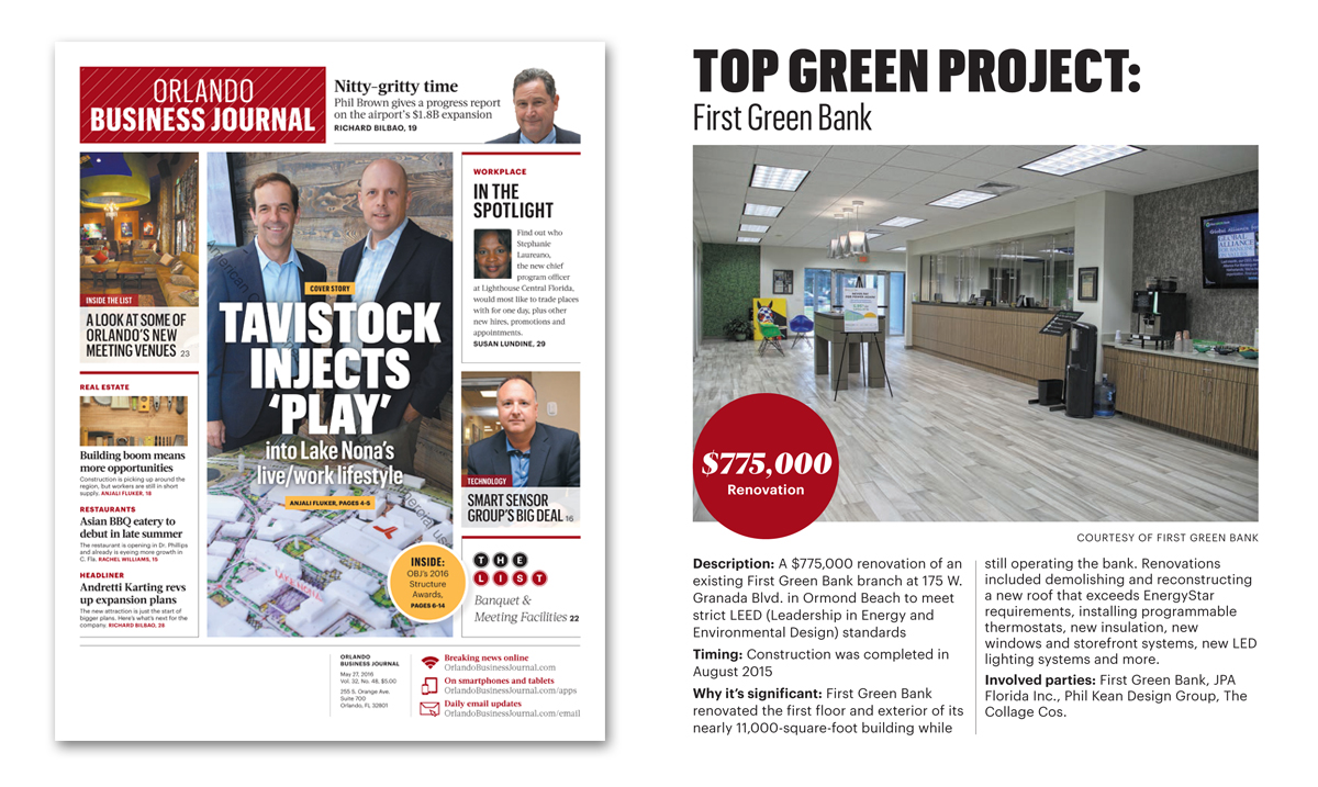 Orlando Business Journal's 2016 Structures Awards - Top Green Project